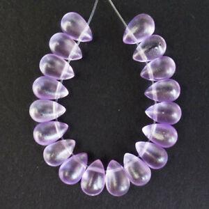 18Pcs/Set 8x6mm Purple Crystal Teardrop Pendant Bead R05710