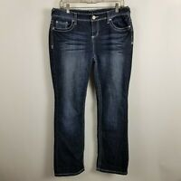Maurices Straight Leg Womens Dark Wash Blue Jeans Size 9/10 Short