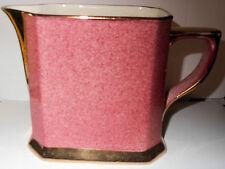 Art Deco Royal Winton Pink Square Pitcher, Powder Finish, Gold Handle, Spout