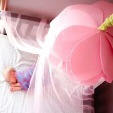 Canopy For Girls Bed Tent Fairy Princess Pink Flower Mosquito Net Indoor Outdoor