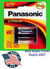 Panasonic 2CR5 Photo Lithium Battery 1 Pack Super Fresh Expire 2027 made in USA