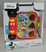 Disney Mickey Mouse My First Learning Book Lights Sounds English - Spanish NEW