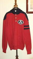 POLO RALPH LAUREN LSL PO HOOD LOGO Sweatshirt Size L (AGE 14-16) Red RRP - £ 155