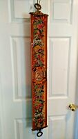 Vintage Corona Decor Tapestry Wall Hanging Scroll Ornate Bell Pull Textile