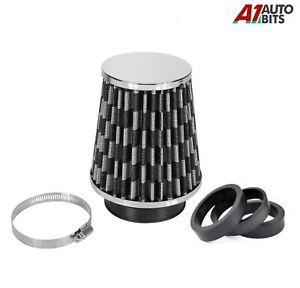 """6"""" Carbon High Flow Mesh Cone Car Sport Air Filter For Vauxhall Corsa Astra"""