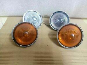 WILLYS JEEP CJ-3B CJ3 CJ5 CJ6 PARKING/TURN SIGNAL CLEAR AND ORANGE LIGHT SET
