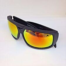 NEW SARTEGO Men's Black Sporty Wrap Sunglasses 2625C3
