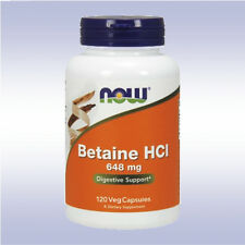 NOW BETAINE HCL (120 CAPSULES) hydrochloride hci digestive enzymes