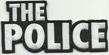 POLICE logo 2013 shaped - EMBROIDERED - IRON/SEW ON PATCH import STING