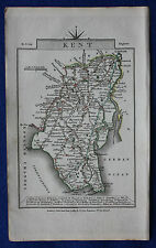 Original antique map KENT, CANTERBURY, DOVER, TUNBRIDGE WELLS, John Cary, 1819