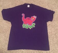 "Vintage Handmade Majestic Purple Dinosaur ""Rawr"" Short Sleeve T-Shirt XL X-Large"