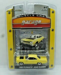 Greenlight Muscle Car Garage 1968 Plymouth Road Runner Yellow NEW
