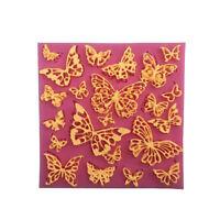 Fleur papillon silicone dentelle tapis Cupcake fondant moules gâteau décoratioÁÍ