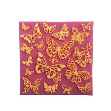 Fleur papillon silicone dentelle tapis Cupcake fondant moules gâteau  ZJP