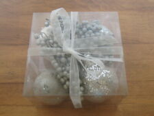 Nip Decorative Fruit Silver & White