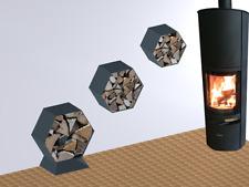 Kaminholzregal Brennholzregal Hexagon XL-4060 bis 30cm Scheite 0,20m3 4-teilig