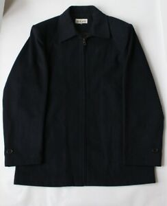 "Zeitgeist Elegant Warm Navy Blue Men 100% Wool Coat Jacket Chest Size 48"""