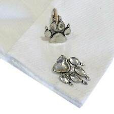 High Quality Cufflinks Handmade in England Silver Pewter Dog Paw Print Paws