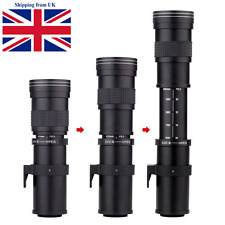 420-800mm F/8.3-16 67mm Telephoto Manual Zoom Lens For Nikon Canon photography