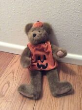 "Boyd's Bear 12"" Jack O Lantern Plush Pumpkin Bear Mwt"