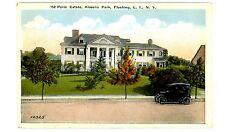 Flushing Queens LI NY - PARIS MANSION IN KISSENA PARK SECTION - Postcard
