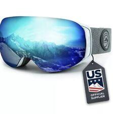 Wildhorn Roca snowboard and ski goggles arctic white ice blue