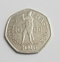 2016 50P COIN BATTLE OF HASTINGS 1066 RARE FIFTY PENCE UNCIRCULATED