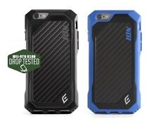 Element Case ION for iPhone 6 6S /6 6S Plus - BLACK w/ Carbon Fiber Back Plate