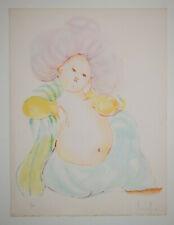 Rahat LEONOR FINI Lithographie Originale Signée 4/166 Livre Images 49x55 cm 1971
