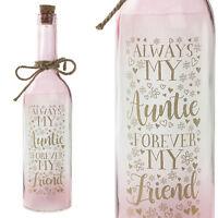 'Always My Auntie' Star Light Battery Light Up Bottle - Birthday Gift