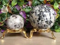 Natural Rainbow Moonstone Crystal Sphere Round Crystal Ball Healing Sphere Rock