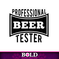 Professional Beer Drinker Decal Window Sticker Car Party Fun Life Dad Pro Games