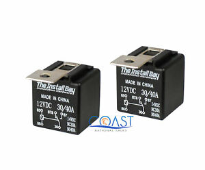 2X The Install Bay RL3040  12V 30/40 AMP Bosche Style Relay - 2 Pack