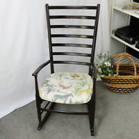 Mid Century Modern Style Ladder Back Rocking Chair with Danish Design Influences