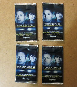 Supernatural Trading Cards Sealed Pack - 4 Sealed Packs Jensen Ackles Season 2
