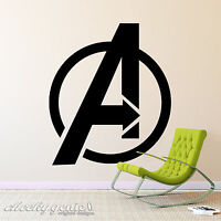 Marvel Avengers Logo - Vinyl Wall Art - Decal Sticker Silhouette Boys Room Child