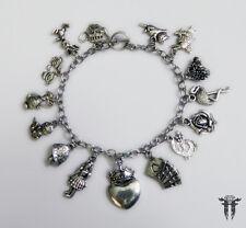 Alice in Wonderland Queen of Hearts Inspired Charm Bracelet