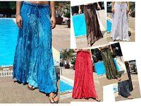 Long Maxi Skirt Gypsy Boho Summer Lightweight Handmade Two Tones