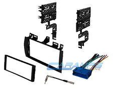 CAR STEREO DOUBLE 2 DIN RADIO REPLACEMENT INSTALL KIT DASH TRIM W/ WIRE HARNESS