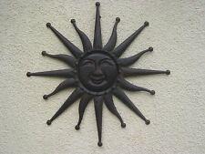 große  Sonne Wanddeko Deko Metall Antik-braun durchmesser 59cm Wanddekoration