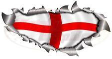 Solo Techo / Sombrero Rip St George Inglaterra Bandera Adhesivo 4x4 Carrera COCHE CAMIÓN VAN
