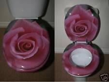 Designer Novelty Printed Toilet Seat - Pink Rose Design