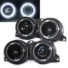 E30 1983-1991 CCFL Angel-Eye Projector HEADLIGHT Black for BMW 316i/320i/325/M3