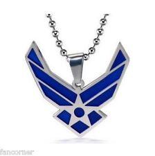 Stargate sg1 pendentif acier inoxydable symbole Air force USAF logo pendant