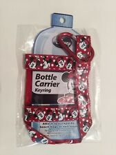 Disney Minnie Mouse  Red Water Bottle Holder Carrier Keychain Backpack Clip NWT