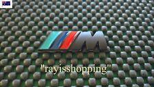 BLACK BMW M MEDIUM Sports Decal Sticker Badge Sticker M1 M3 M4 M5 M6 X3 X5 X6