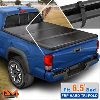 Hard Solid Tri-Fold Tonneau Cover for 07-14 Silverado/Sierra w/ 6.5ft Short Bed