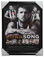 Collingwood Official AFL Print Framed - Dane Swan Signed Swansong AFLPA COA