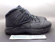 cb18402c6ff Nike LeBron Zoom Soldier VII 7 Blackout Triple Black GS sz 7Y