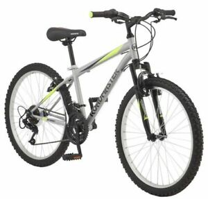 Roadmaster Granite Peak Boy's Mountain Bike, 24-inch wheels,Silver - SHIPS TODAY